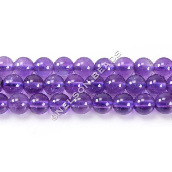 6mm African Amethyst Round Gemstone Beads