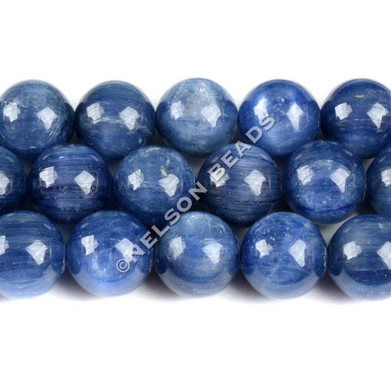 10mm Blue Kyanite Round Beads Grade AAA