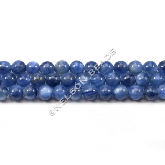 4mm Blue Kyanite Round Beads