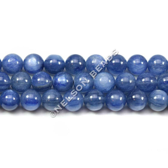 6mm Blue Kyanite Round Beads Grade AAA