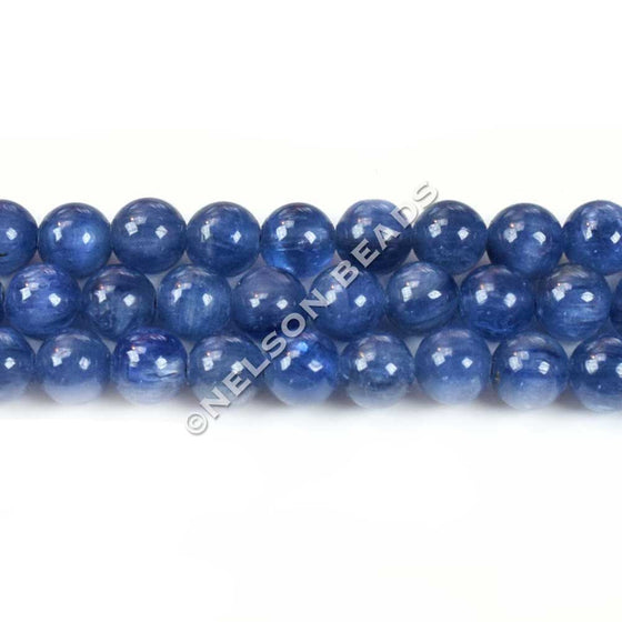 Blue Kyanite 6mm Round Gemstone Beads
