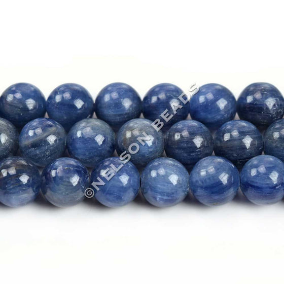 8mm Round Blue Kyanite Gemstone Beads