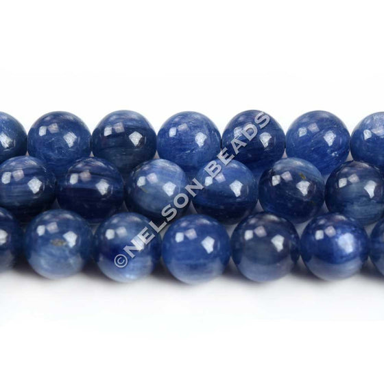 High Quality 8mm Round Blue Kyanite Beads