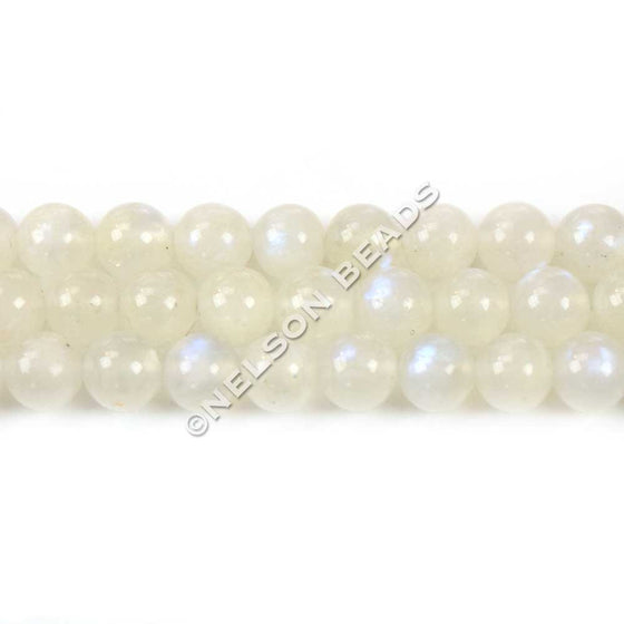 6mm Blue Moonstone Round Gemstone Beads