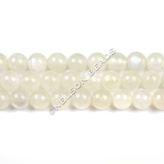 6mm Blue Moonstone Round Beads
