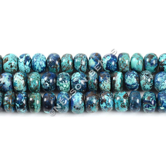 Top Quality 6mm Chrysocolla Rondelle Beads