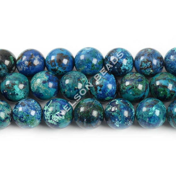 High Quality Chrysocolla 8mm Round Beads