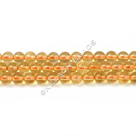 4mm Citrine Round Gemstone Beads