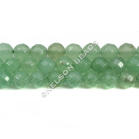 6mm Green Aventurine Faceted Beads