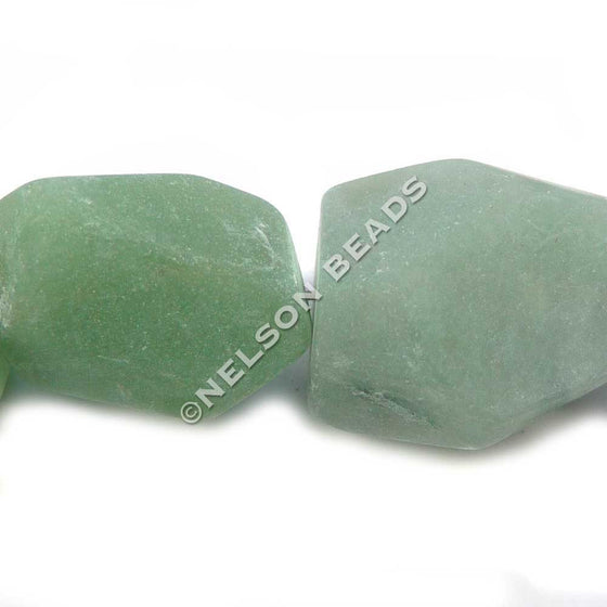 Green Aventurine Faceted Nugget Beads