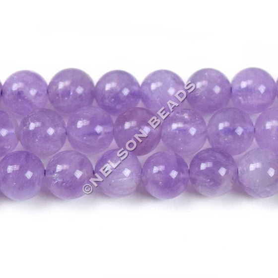 8mm Lavender Quartz Round Beads