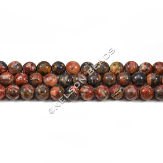 4mm Leopardskin Jasper Round Beads