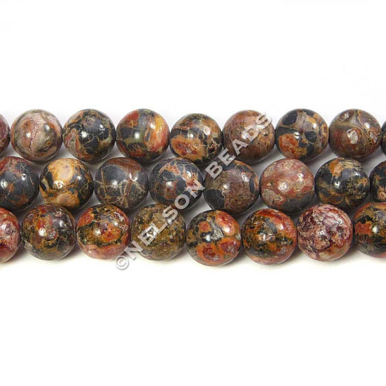 6mm Round Leopardskin Jasper Beads