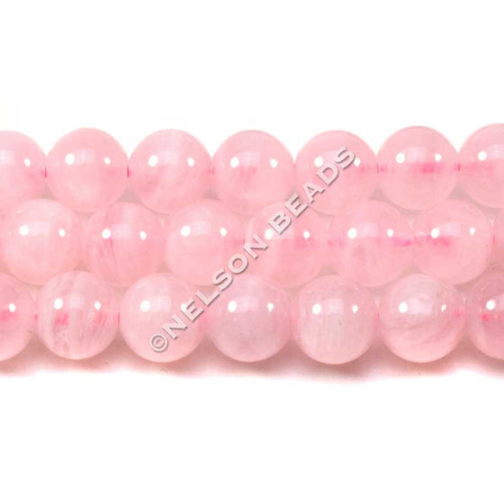 8mm Madagascar Rose Quartz Round Beads