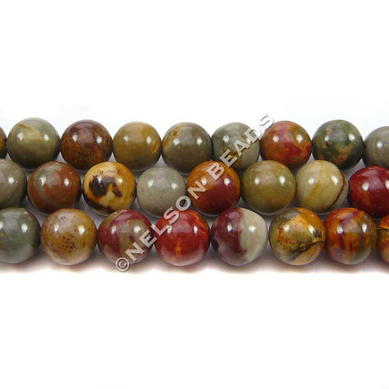 6mm Round Multi-Picasso Jasper Beads