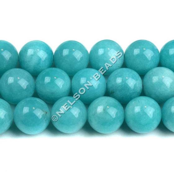 10mm Peruvian Amazonite Gemstone Beads Grade AAA
