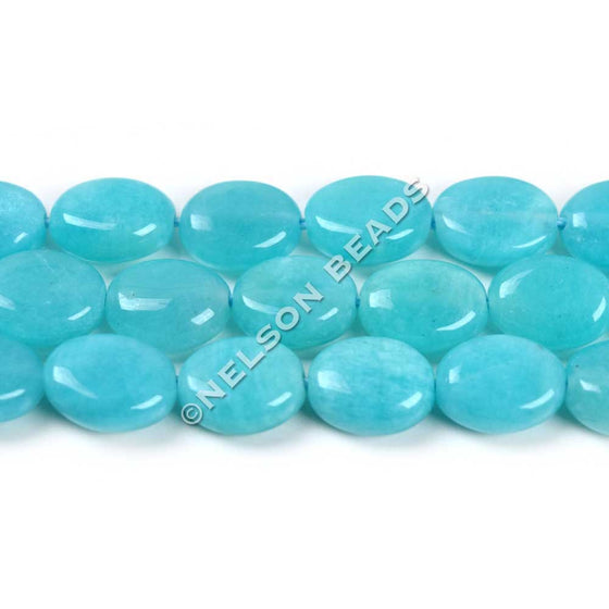 Top Quality Peruvian Amazonite Oval Beads