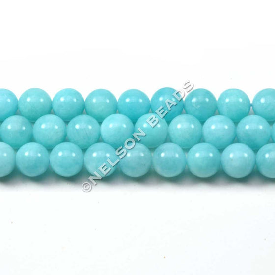 6mm Peruvian Amazonite Round Beads