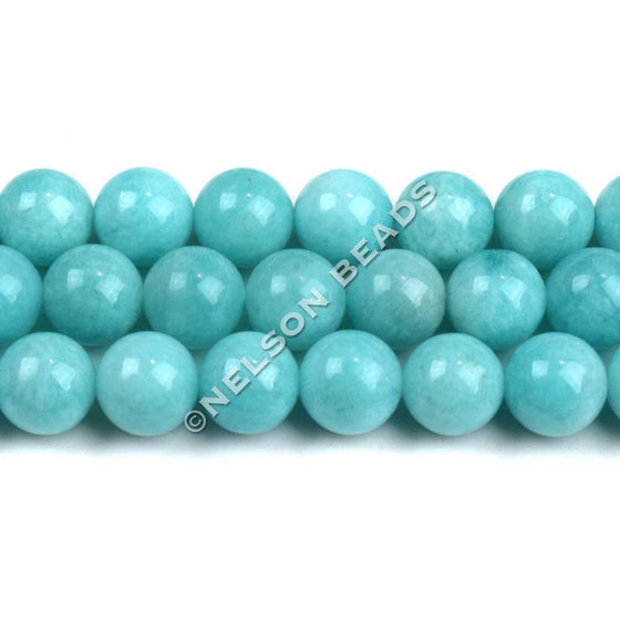 8mm Peruvian Amazonite Round Beads Grade AAA