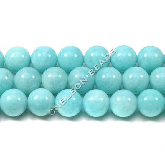 8mm Peruvian Amazonite Round Beads