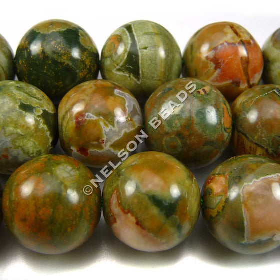 12mm Round Rhyolite Beads