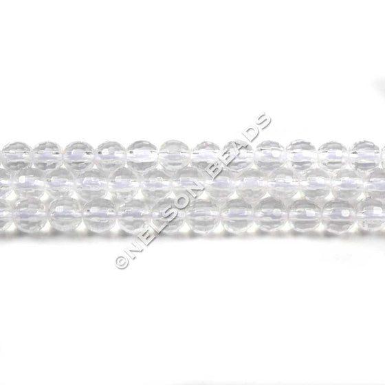 4mm Rock Crystal Faceted Beads
