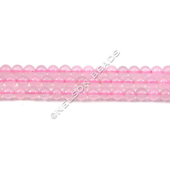 3mm Round Rose Quartz Beads
