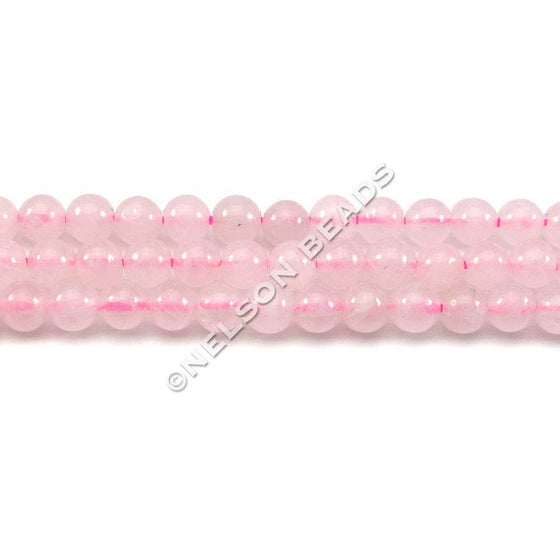 4mm Round Rose Quartz Beads