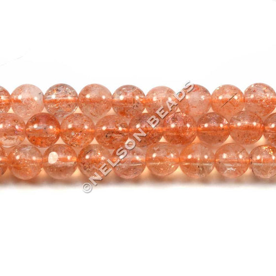 6mm Sunstone Round Gemstone Beads