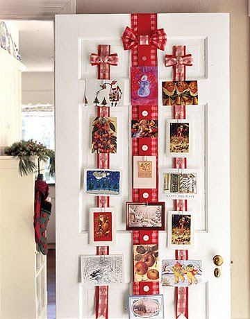 Door Christmas Cards Display