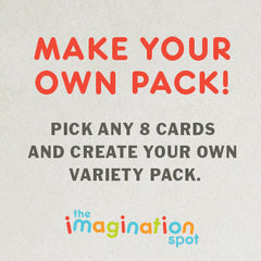 8 Assorted cards pack - The Imagination Spot