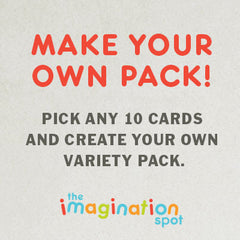 10 Assorted cards pack - The Imagination Spot
