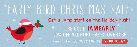 Early Bird Christmas Sale