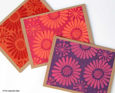 Lino Block Printed cards - The Imagination Spot