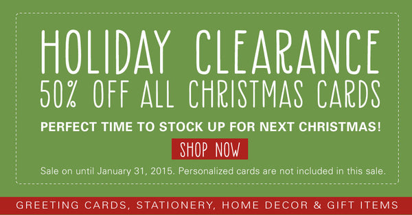 Holiday Clearance Sale