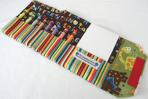Crayon Wallet - Dino Dudes from Etsy