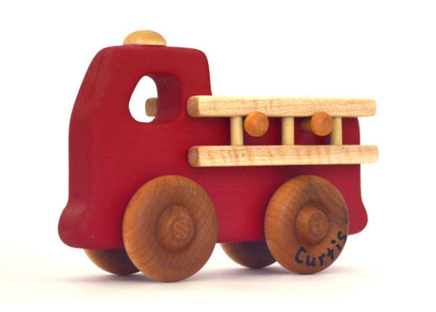 Personalzied Wooden Toy Fire Truck