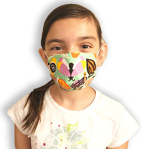 Kids Resuable 3D Cloth Face Mask - Various Patterns