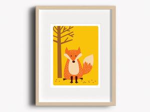 Home Decor Art Print - Fox - Woodland Animals - The Imagination Spot - 1