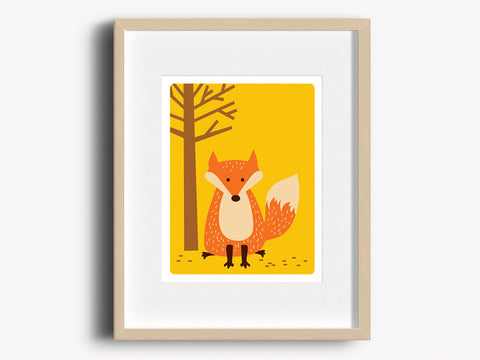 Home Decor Art Print - Fox - Woodland Animals