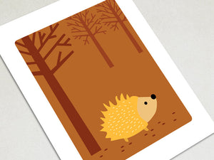 Home Decor Art Print - Hedgehog - Woodland Animals Wall Art - The Imagination Spot - 2