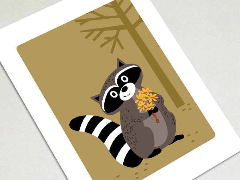 Home Decor Art Print - Raccoon - Woodland Animals Wall Art - The Imagination Spot - 1