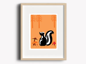 Wall Decor Art Print - Skunk - Woodland Animals Decor - The Imagination Spot - 1