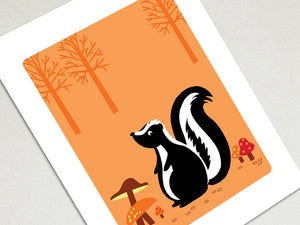 Wall Decor Art Print - Skunk - Woodland Animals Decor - The Imagination Spot - 2