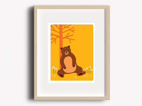 Wall Decor Art Print - Bear - Woodland Animals Decor