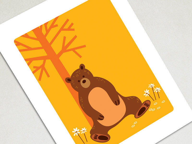 Wall Decor Art Print - Bear - Woodland Animals Decor - The Imagination Spot - 1