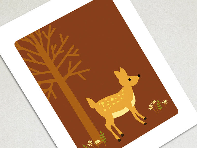 Home Decor Art Print - Deer - Woodland Animals Wall Art - The Imagination Spot - 1