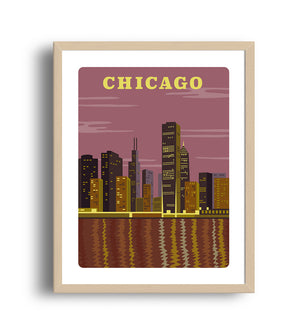Chicago Art print- Giclee city art prints
