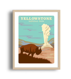 Museum Art Print - Yellowstone National Park - Giclée Art Prints