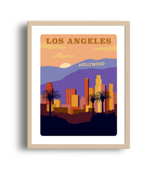 City Art Print - Los Angeles - Giclée Art Prints